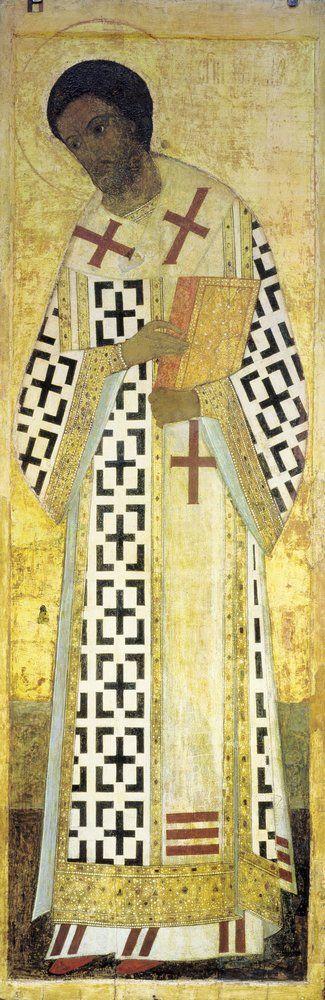 Andrei Rublev ~ Saint John Chrysostom, 1408