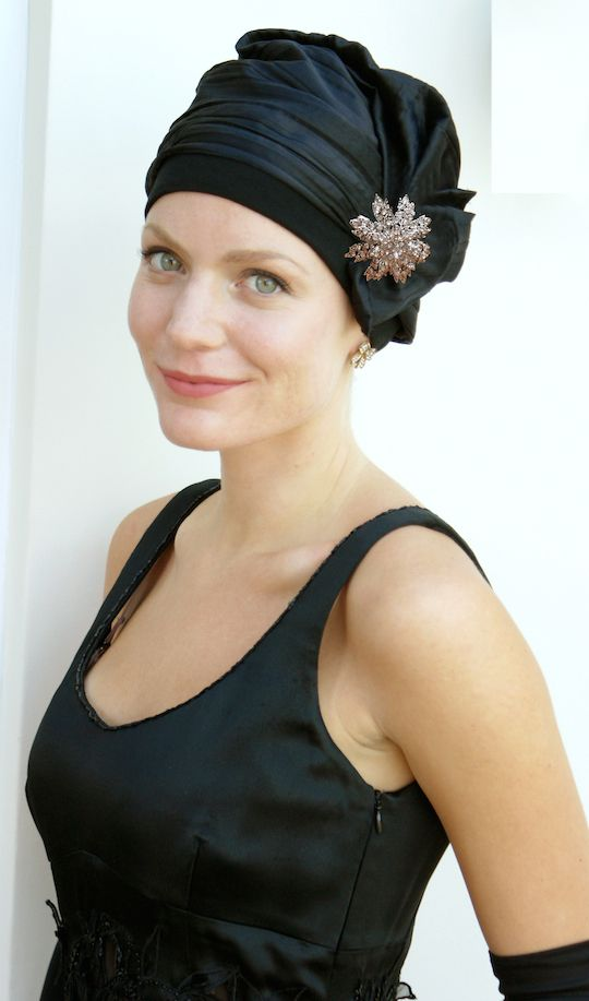 Stunning new party headwear for hair loss (during chemo or alopecia)