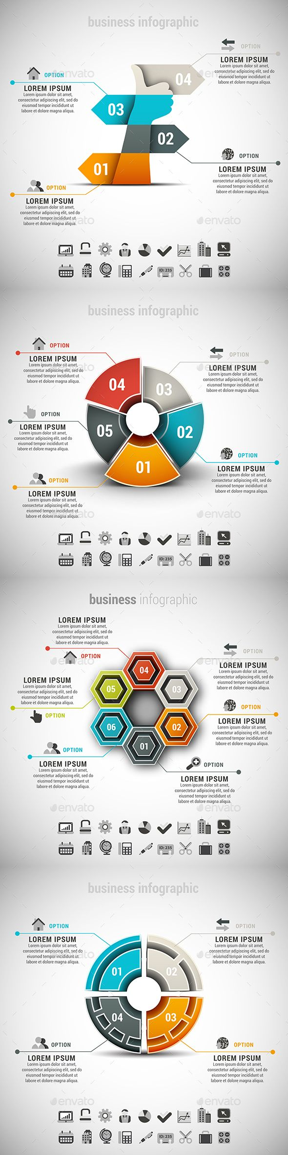 4 in 1 Business Infographics Template Bundle. Download here: http://graphicriver.net/item/4-in-1-business-infographics-bundle/14279363?ref=ksioks