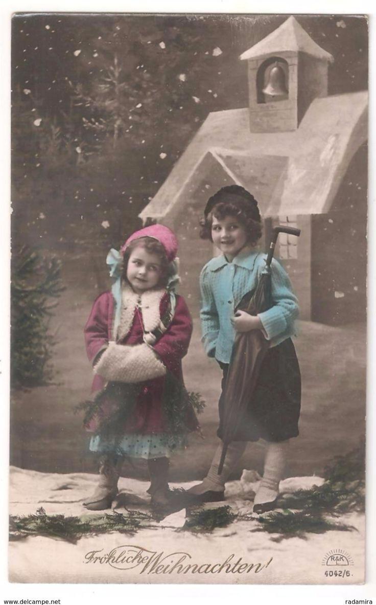 """Alt Ansichtskarte  """"Fröhliche Weihnachten!"""" 1911 Deutschland."""
