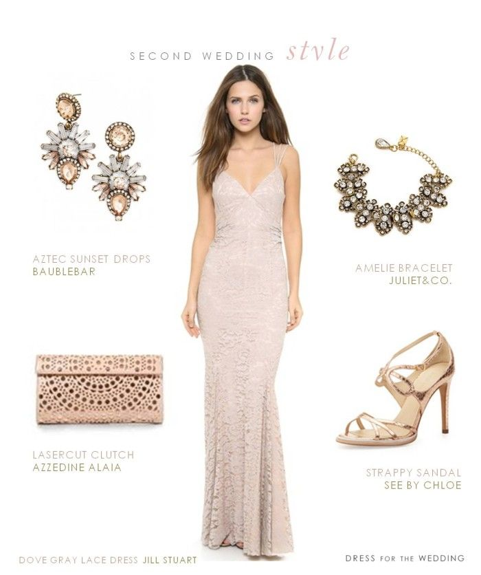 Wedding dresses for a second marriage rose gold for Appropriate wedding dresses for second marriage