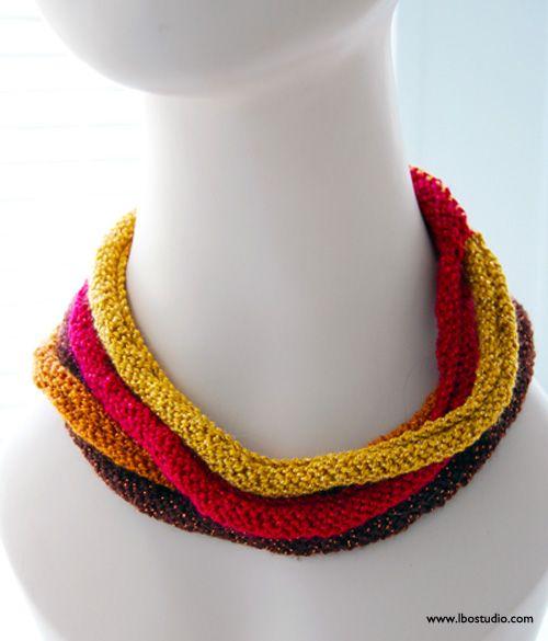 Knitting Jewelry Patterns : Lindsay obermeyer multistrand knit necklace copy g this