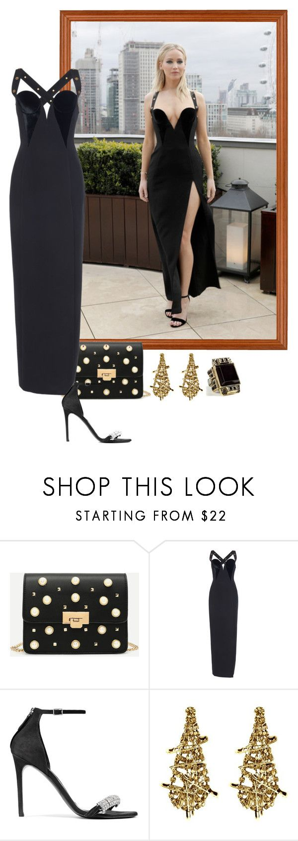"""""""Jennifer Lawrence – 'Red Sparrow' London Photocall."""" by foreverforbiddenromancefashion ❤ liked on Polyvore featuring Calvin Klein 205W39NYC, Tom Binns and Emilio Pucci"""
