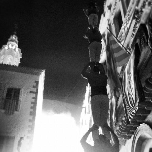 Human Towers in Valls for Saint John (Catalonia)