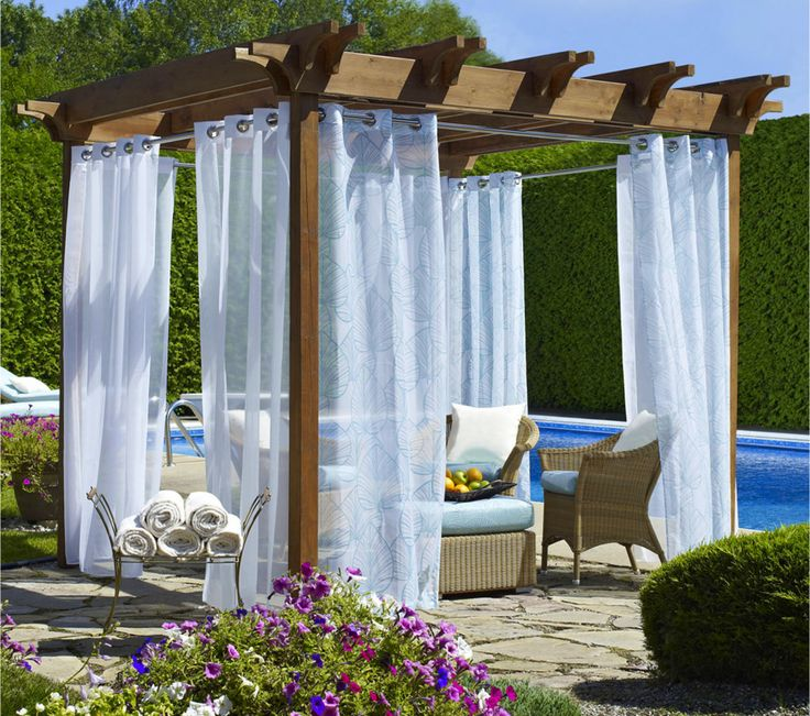 Ways To Use Bright Fabrics Outdoors This Summer Have Been Showcased Underneath These Will Be A Simple Example On How You Can Enjoy Your Pergola