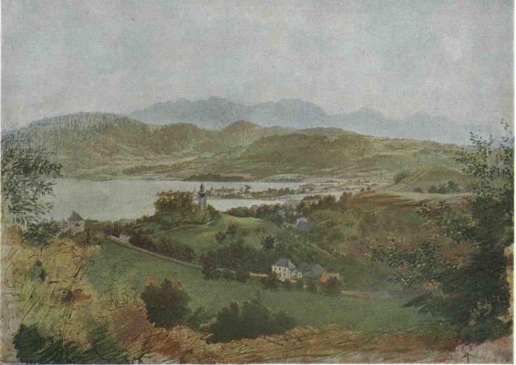 Pohled na Gmunden by Josef Manes
