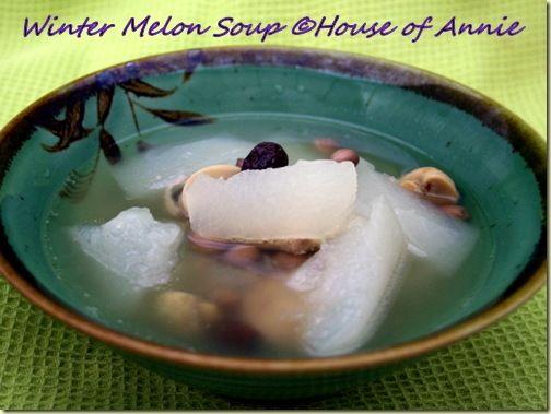 Winter melon soup chinese style dress
