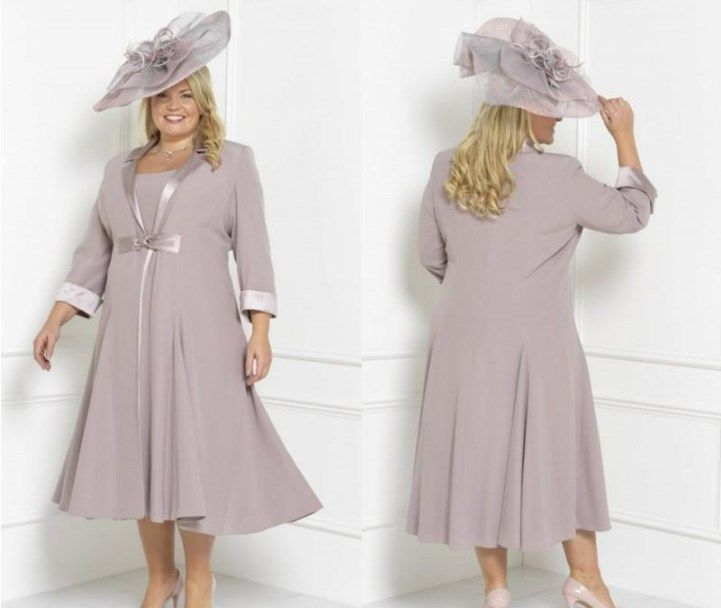 Plus Size Mother Of The Bride Dresses With Jackets Uk Mother Of The Bride Suits Tea Length Dresses Mother Of The Bride Outfit