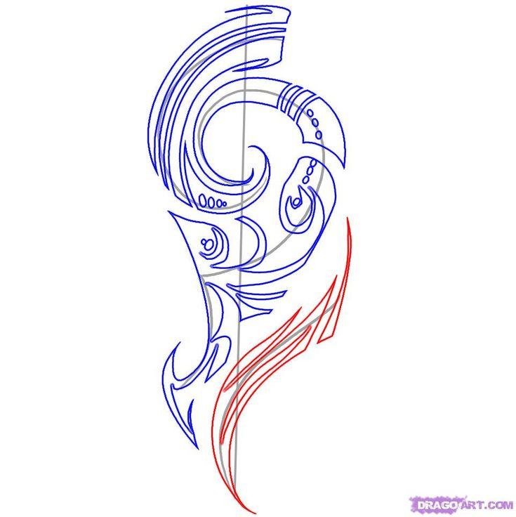 26 Best Maori Tattoo Designs Dragon Images On Pinterest