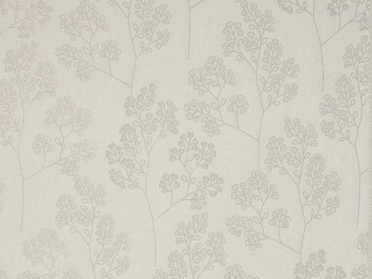 Westland Dove Fabric - an off-white dove coloured floral pattern embroidered on a linen textured background. From the Tru Living collection, exclusive in New Zealand to Harvey Furnishings.