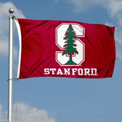 Stanford Double-Sided 3x5 Flag by College Flags and Banners Co.. $59.95. 2-Ply Nylon Material with Embroidered College Logos and Lettering. Identical Flag as flown over the College Football Hall of Fame. Double-Sided and Readable Correctly on Both Sides. Officially Licensed by Stanford University. 3'x5' in Size with Sturdy Metal Grommets and Quad-Stitched Flyends. This Stanford Double-Sided 3x5 Flag is made of 2-ply nylon, measures 3x5 feet in size, has quadruple-stitc...
