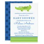 Green and Blue Alligator Baby Shower Invitation