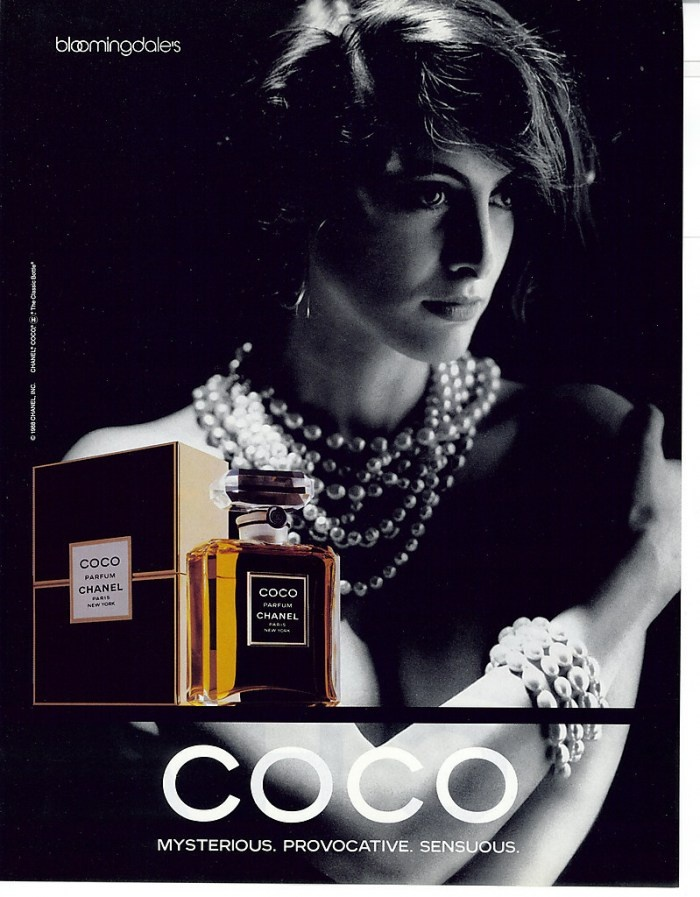 Coco 1988 &1989 Ad by Chanel.