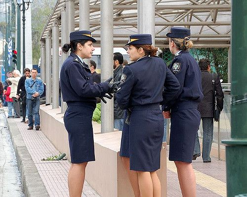 https://flic.kr/p/c4nTV | Girls in Uniform | A gaggle of Greek policewomen get ready to marshall the crowds at the March 25 National Day Parade.