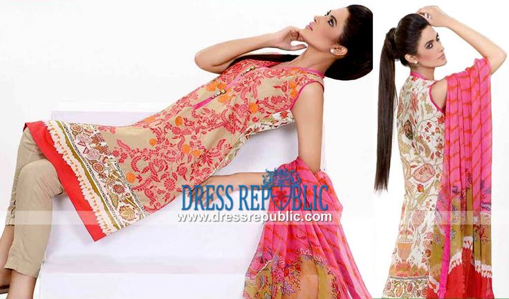 Sobia Nazir Chiffon Lawn Dresses Buy Online Eid 2014  Buy Online Sobia Nazir Chiffon and Lawn Suits for Eid 2014 in Canada. We Deal in Complete Sets at Discounted Wholesale Prices. by www.dressrepublic.com