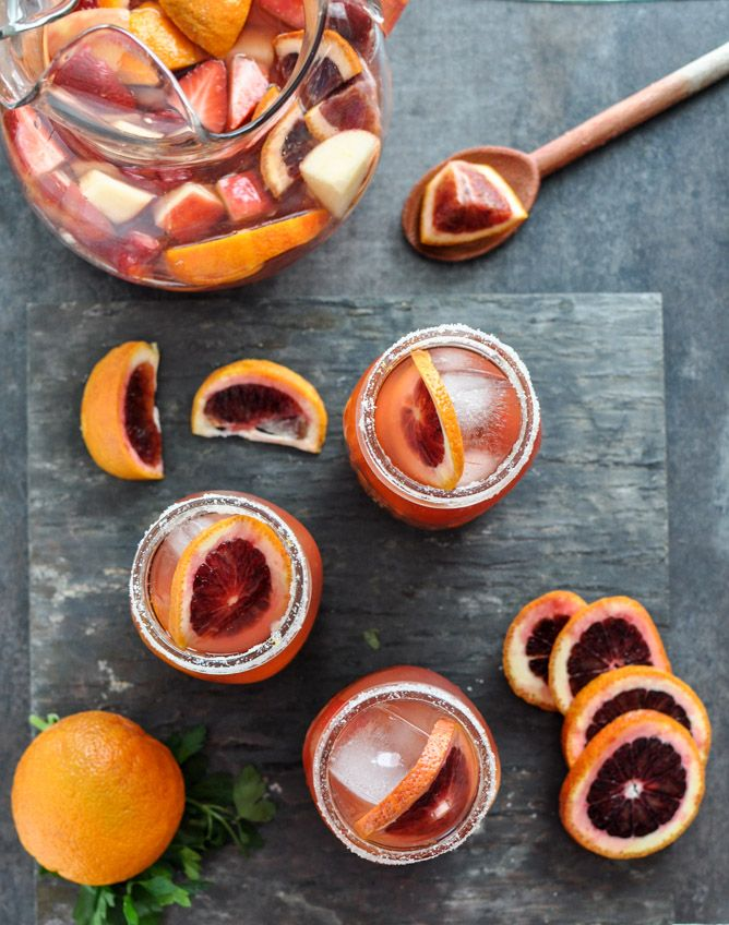 Blood Orange Sangria by howsweeteats #Sangria #Blood_Orange