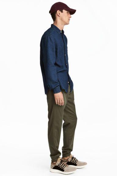 Pantalon jogger en twill - Vert kaki - HOMME | H&M FR 1