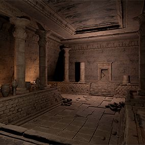 Ancient Egypt Tomb Kit - is a modular environment set designed to quickly create different interior scenes in the ancient Egypt setting.