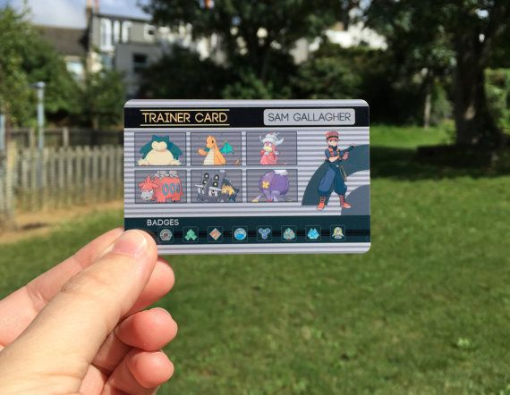 Custom-made Pokémon Trainer Card -  Inspired by the classic video game designs, these customized cards are ideal for showing off your dream team and hard-earned gym badges. They're the size of a credit card, so are a perfect size for a wallet or lanyard. Choose from the list of designs and colour schemes. - Etsy - $13.43