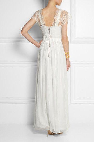 Sophia Kokosalaki - Tykhe Lace And Chiffon Gown - Off-white - IT38