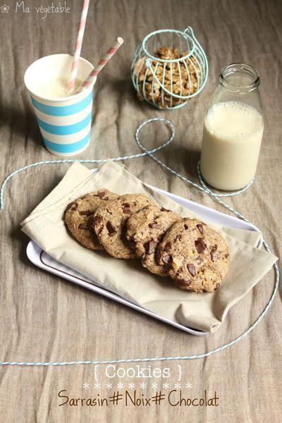 Cookies vegan sarrasin, noix et chocolat - Ma Végétable