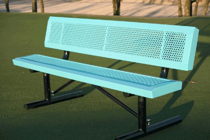 Outdoor Metal Park Benches Sale - - VMWCB4PLAYERINNVSM:xx 4Ft. Bench without Back, Surface Mt