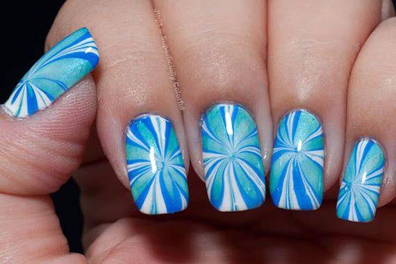 56 Ideas para que pintes tus uñas color celeste | Pintar Uñas