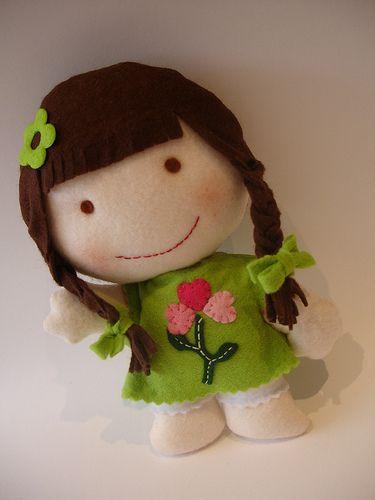 Felt dollLittle Girls, Felt Dolls, Dolls Felt, Adorable Dolls, Emily Dolls, Felt, Dolls Ideas, Sílvia Leite, Dolls Emily