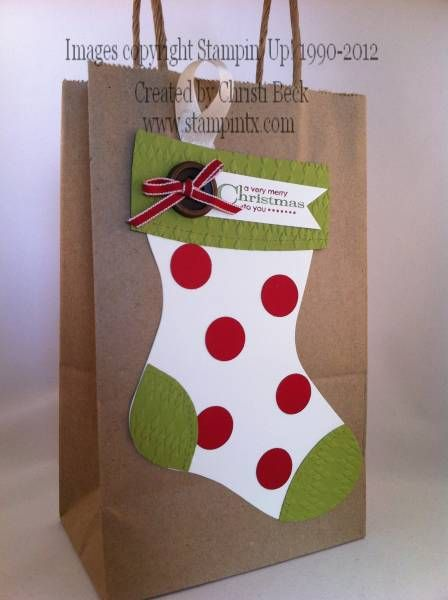 Best christmas gift bags ideas on pinterest diy