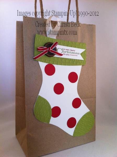 Description: Christmas Stocking Gift Bag