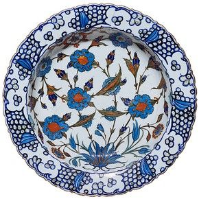 Dish, Iznik, Turkey, about 1560-1565