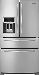 KitchenAid - 25.0 Cu. Ft. French Door Refrigerator with Thru-the-Door Ice and Water - Stainless-Steel $2464.99 Best Buy