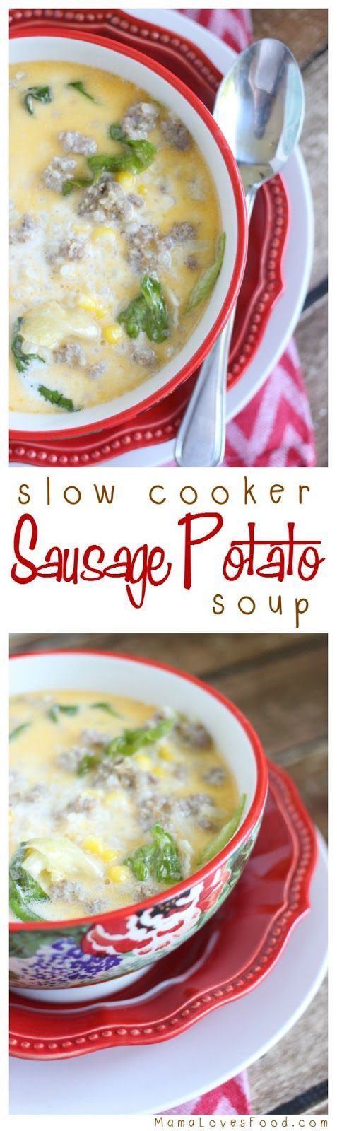 Sausage Potato Soup for the Slow Cooker
