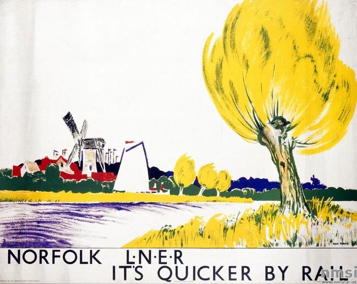 Norfolk -  L.N.E.R. Poster, Tom Purvis