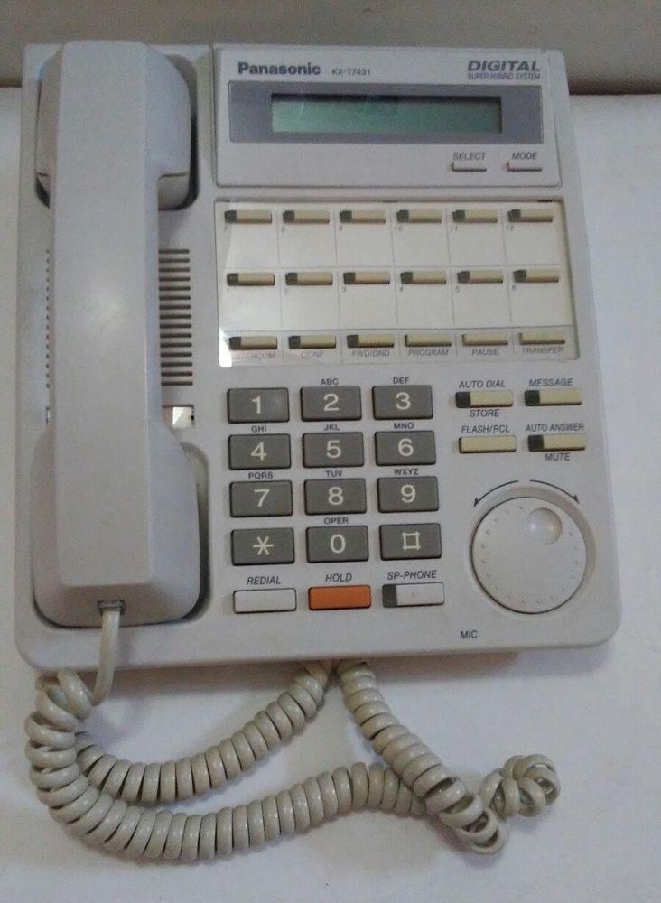 Panasonic KX-T7431 White Telephone Serial # 9JB1D010263 Digital Super Hybrid Sys | eBay
