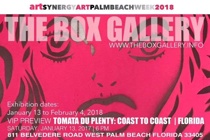 The Box Gallery   811 Belvedere Road   West Palm Beach, Florida 33405     Visit us online!   Leave a review on Yelp!         TICKETS     Ar...