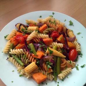 Vickys Roasted Vegetable Pasta recipe snapshot