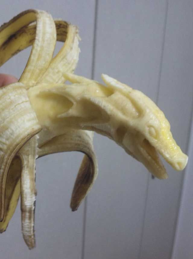 Wonderfully Creepy Sculptures Carved From Bananas