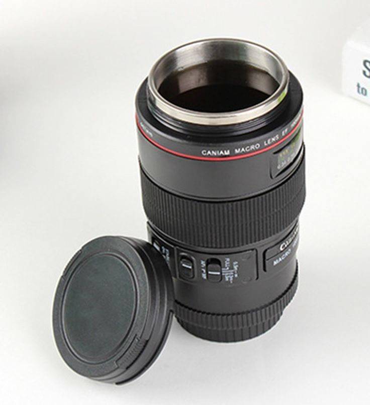 Canon Hundred Micro Lens Camera Cup Glass Mug Stainless Steel Lens Cup  Creative Household Furniture
