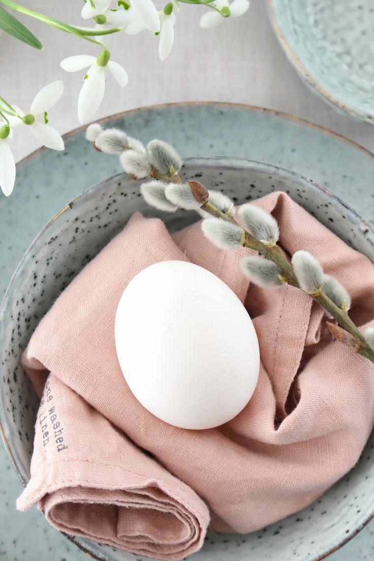 Tischdekoration, Frühling, Ostern, Pastell, Schne…