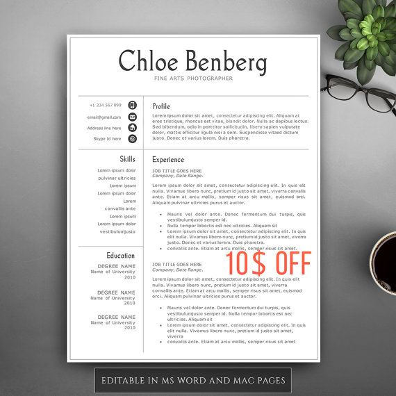 42 best Resume Templates images on Pinterest Ms, Professional - pages resume templates