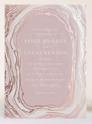 Pastel Pink Agate Slice Invite Design http://www.theperfectpalette.com/2015/04/semi-annual-free-foil-event-at-minted.html