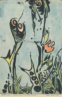 Flowers of the primeval forest By Uche Okeke ,1982