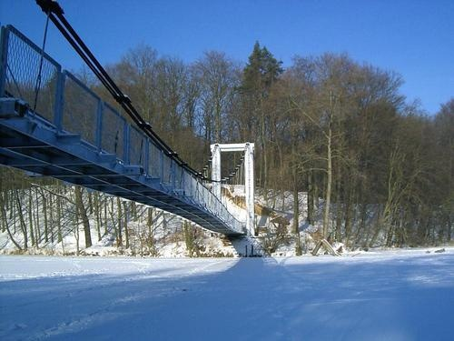 Frozen Lake Radun, Suspension Bridge