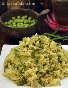 Masala Bhaat, Maharashtrian Masala Bhaat Health Recipe recipe | Indian Low Fat Recipes | by Tarla Dalal | Tarladalal.com | #3581