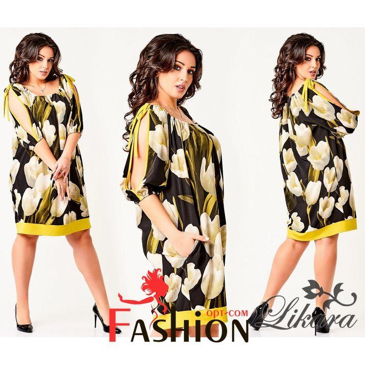 🌸1️⃣1️⃣1️⃣9️⃣руб🌸 Платье с принтом цветы с завязками на плечах Мод.300 Размеры: 50, 52, 54, 56. Цвета: ментоловый, черный, белый, голубой. Материал: стрейч-шелк.