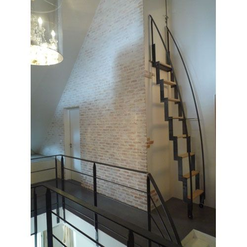 Pull out metal and wood attic ladder - PRESTIGE - Bruge Valé
