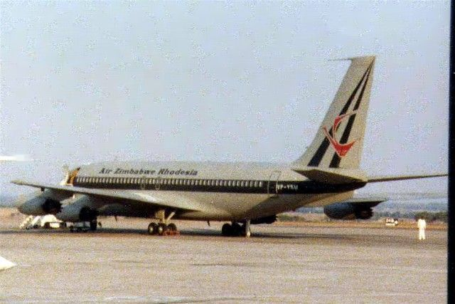 Zimbabwe Rhodesia only existed for some six months - a rare shot of an Air Zimbabwe Rhodesia Boeing 720