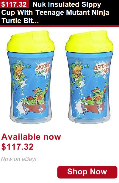 Baby Sippy Cups And Mugs: Nuk Insulated Sippy Cup With Teenage Mutant Ninja Turtle Bite Resistant Spouts BUY IT NOW ONLY: $117.32