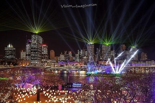 Laser light show #Riverfire #Brisbane #QLD #Queensland #Australia #City